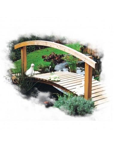 Passerelle pont en bois courbe