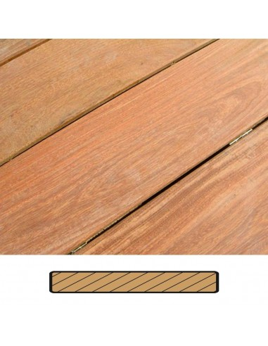Terrasse IPE avec vis et chevrons (m2)