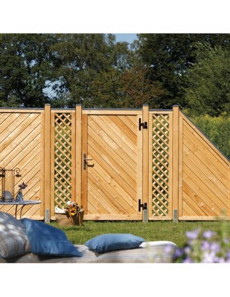 Porte de jardin mélèze