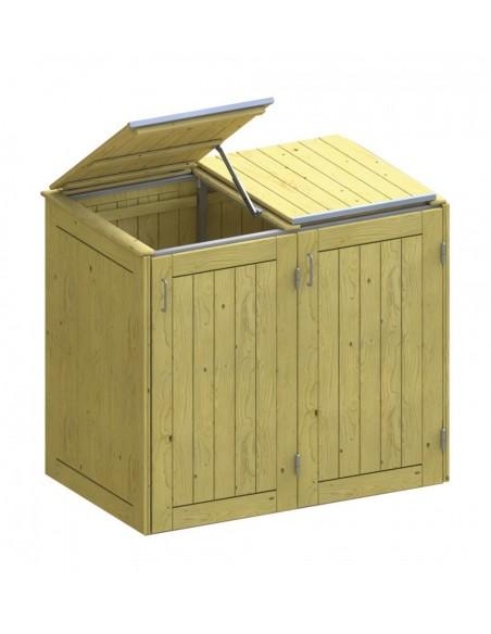 Klapdeksel Inox voor vuilbak koffer