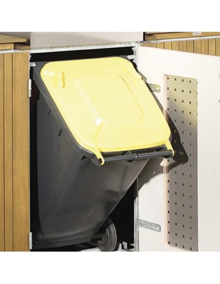 Cabine voor 3 vuilnisbakken