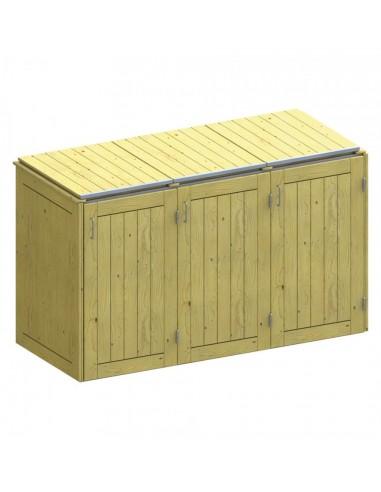 Hut voor 3 vuilnisbakken