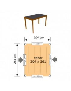 Carport rectangulaire
