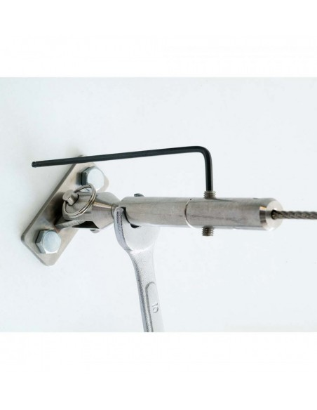 Inoline kabelspanner met steun muurbevestiging