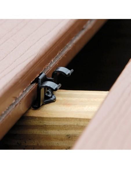 Cobra clips fixation lame de terrasse composite 24 mm