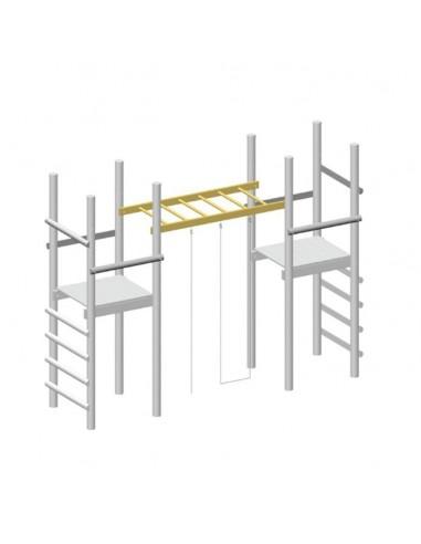 Echelle horizontale suspendue pour portique