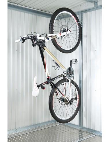 Support de vélo pour abri métallique