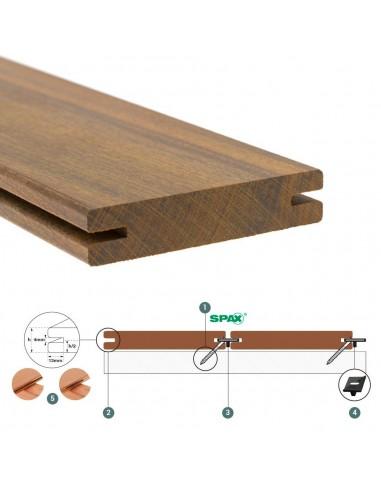 Hardwood Clip planche de terrasse