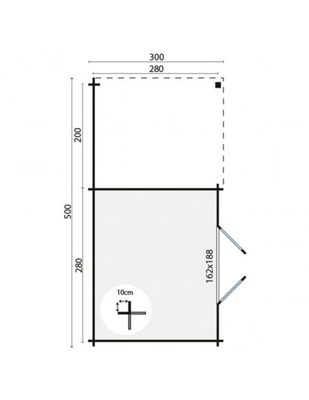 Abri de jardin en bois à toit plat