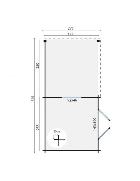 Cabane de jardin - toit plat