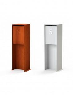 Boîte aux lettres en acier Corten ou aluminium