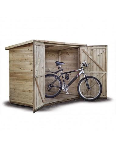 Houten fietsenstallingen