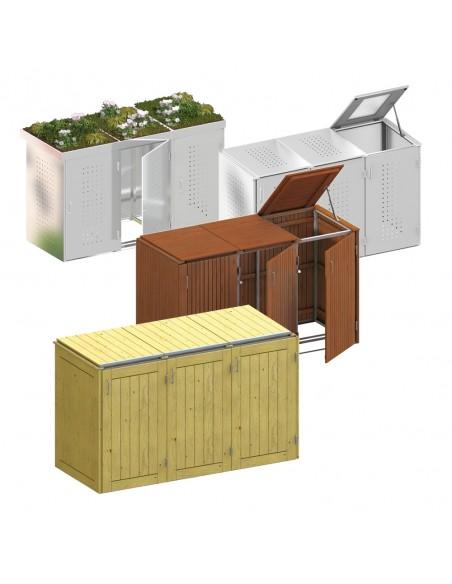Cabane pour poubelles