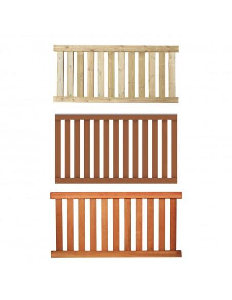 Balustrade en bois ou bois composite