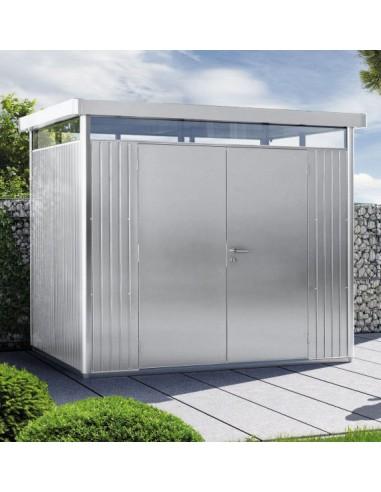 Metalen tuinhuis met dubbele deur