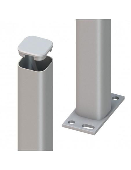 Poteau métallique à visser ou à bétonner