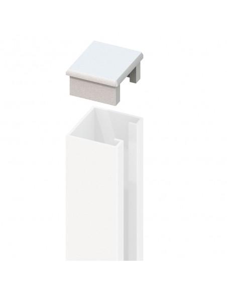 Aluminium U-profiel kap