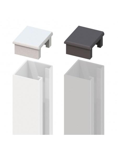 Capuchon pour profil U en aluminium