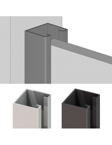 Profil - U en aluminium