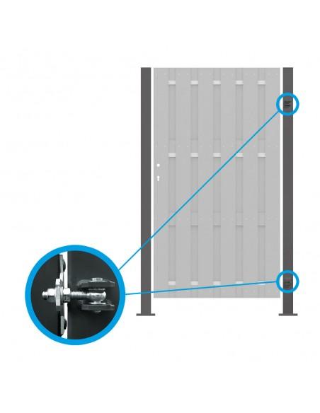 Poteaux acier pour porte et portail