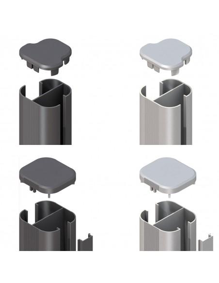 Poteau en aluminium à bétonner