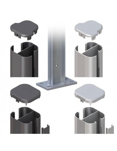 Poteau en aluminium à visser