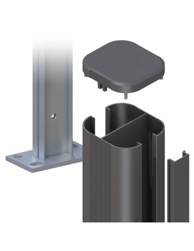 Schroefbare aluminium paal
