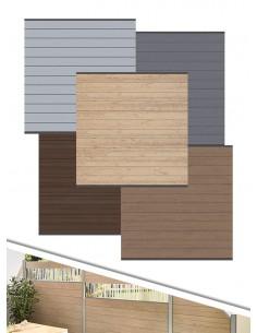 Palissade en bois composite