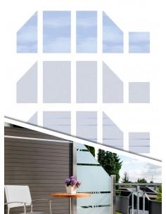 Glazen balkonwand