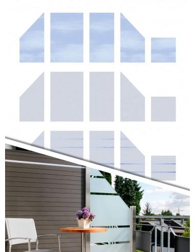 separation balcon en verre