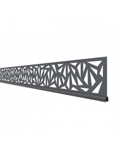 Lames décoratives pour palissades en bois composite et aluminium