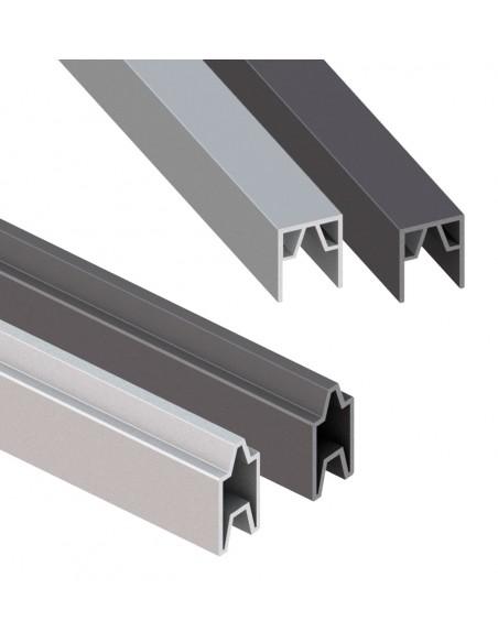 Profil de finition pour palissade en composite et aluminium