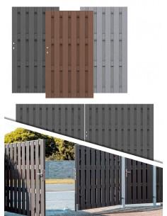Porte et portail composite WPC