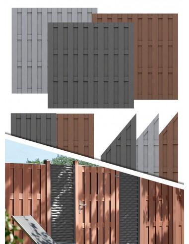 Clôture de jardin en bois composite