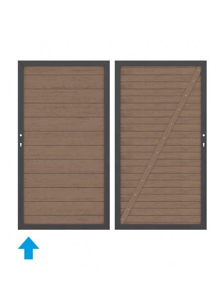 Porte et portail en bois composite