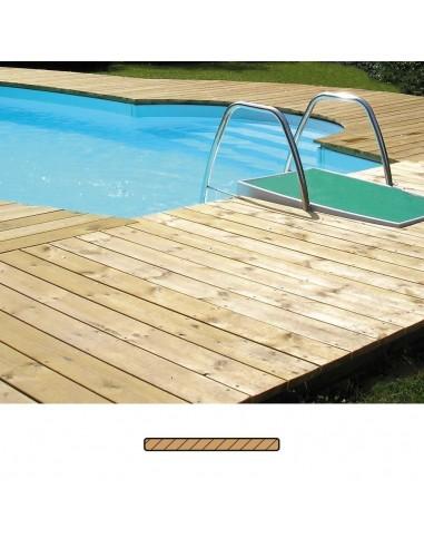 Terrasse en Pin (SRN) Traité lisse 17x95 mm