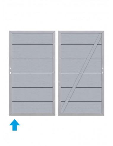 Porte et portail en bois composite XL