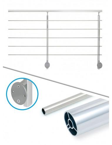 Balustradepakket 2 m lateraal - buis en aluminium