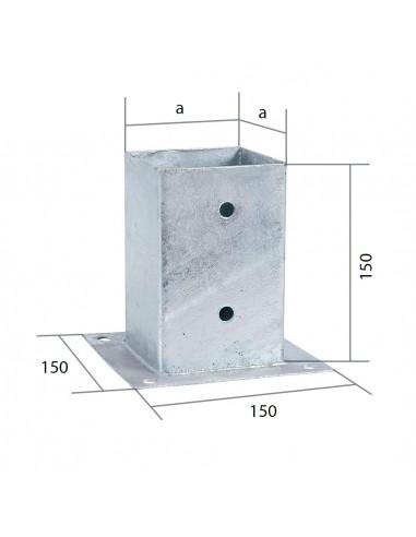 Sabot de poteau carré