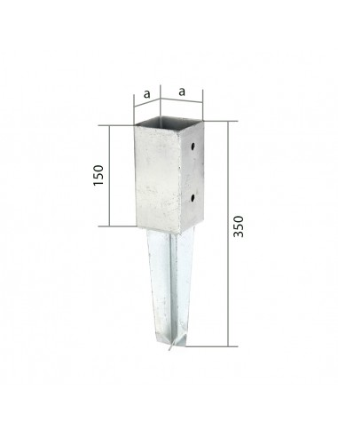 Anker voor vierkante houten paal