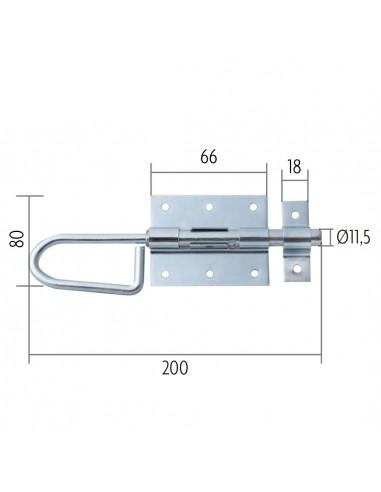 Bajonetsluiting 20 of 40 cm