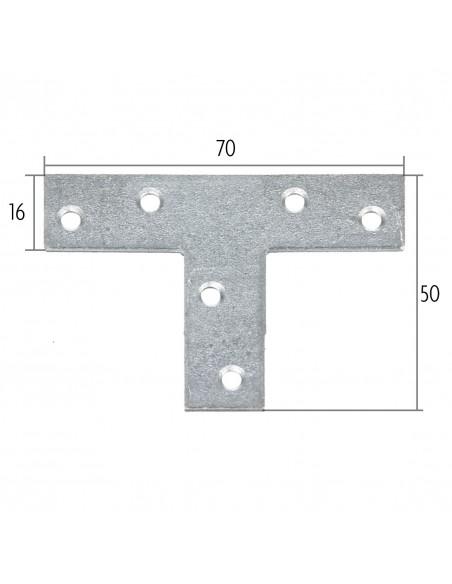 T-vormige montageplaat
