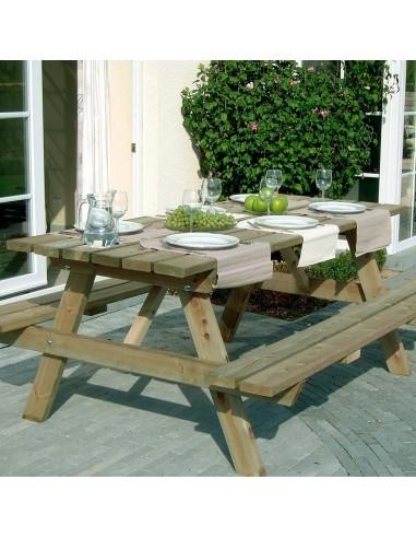 Table avec banc pique-nique