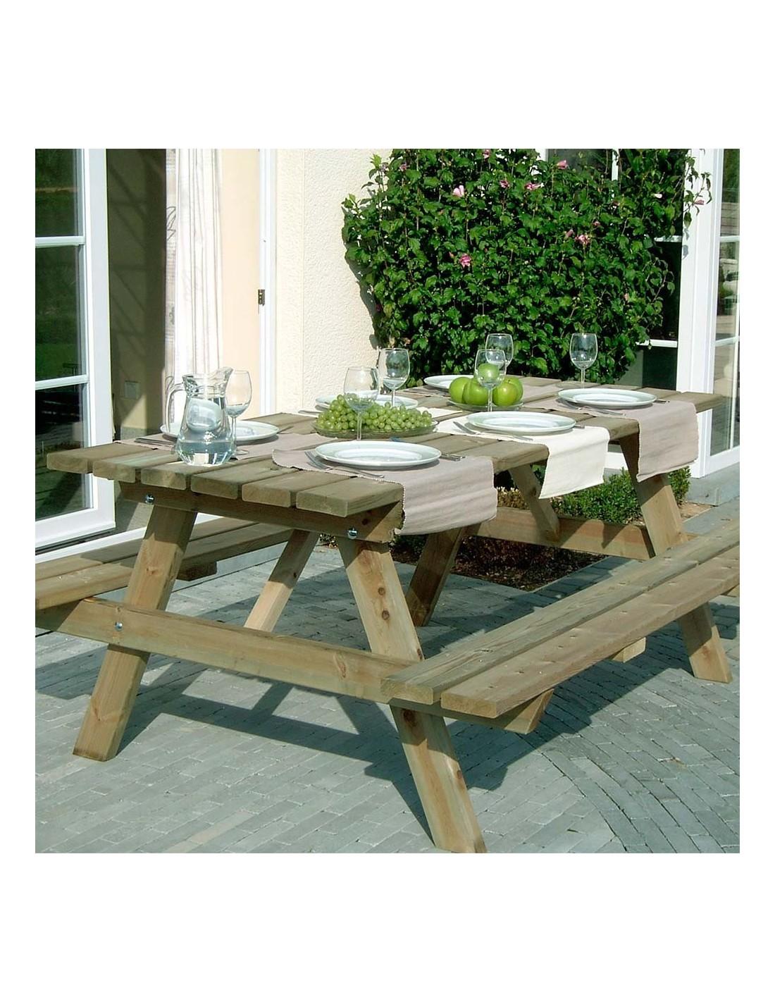 Verrassend Pic-Nic tafel - bank Afmeting 180 x 145 cm UQ-58