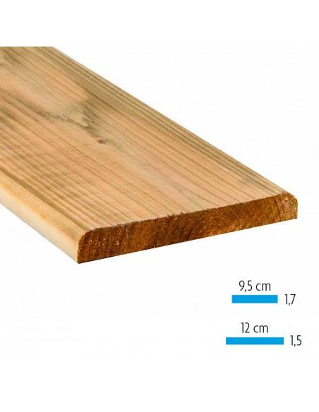 Fines planches en sapin traité imprégné