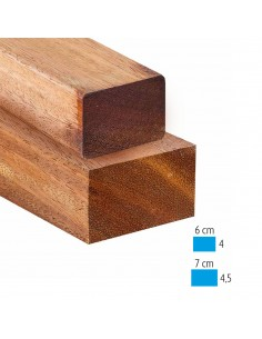 Chevrons, lambourdes en bois exotique