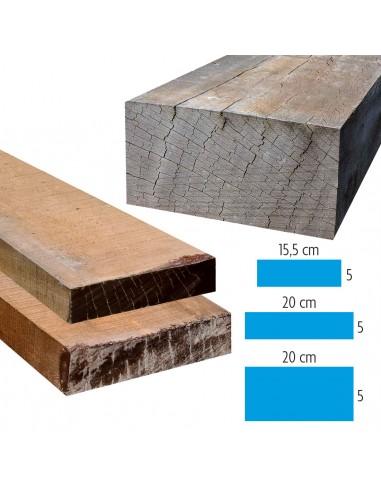 Ongeschaafde exotische houten balken