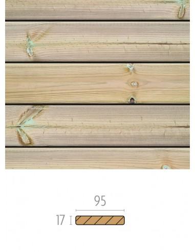 Fine planche de terrasse en sapin