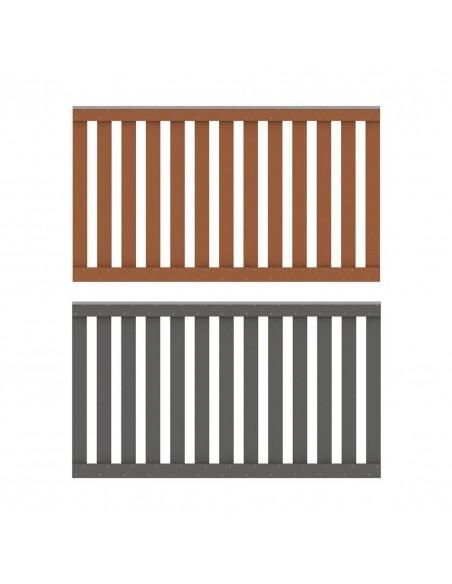 Balustrade en bois composite