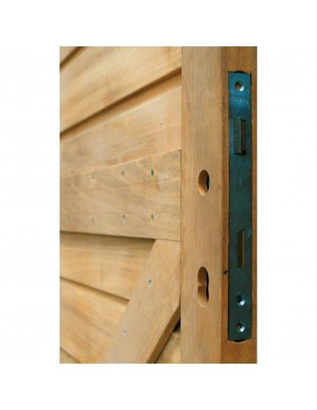 Porte de jardin en bois exotique massif